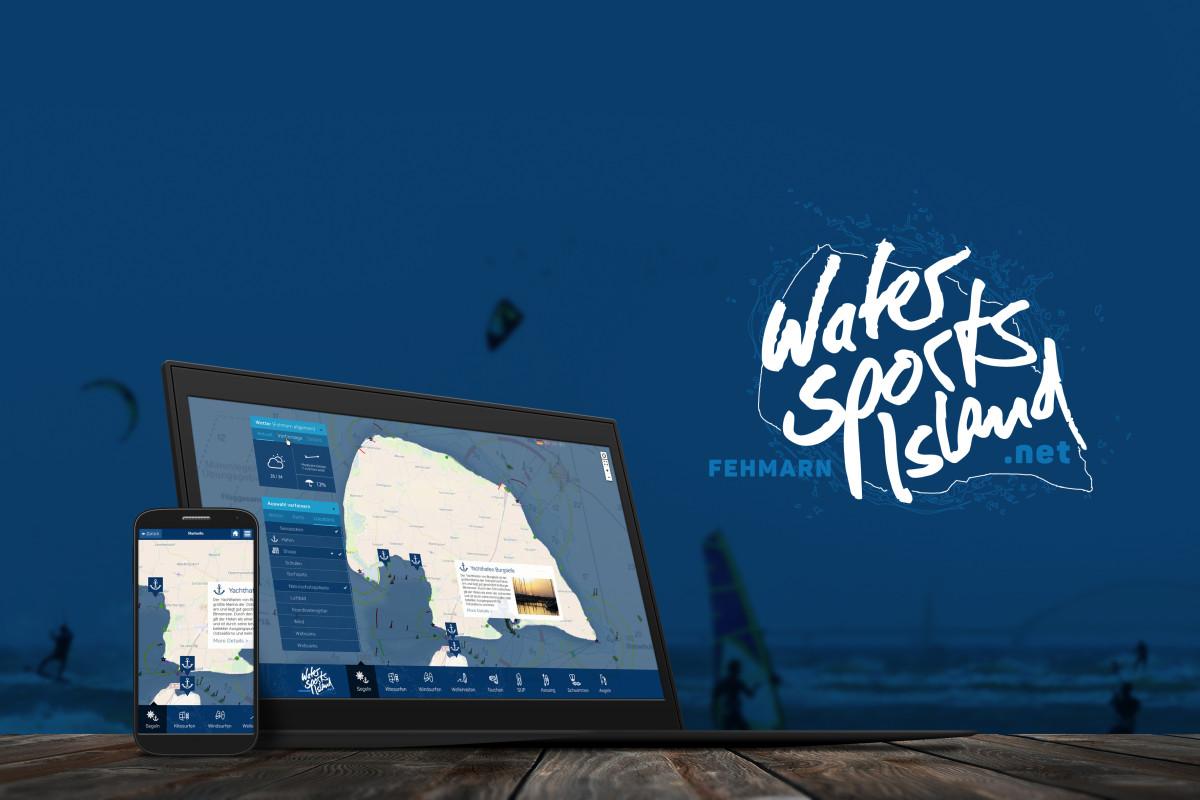 WaterSportsIsland_Presse_Notebook+Smartphone+Logo