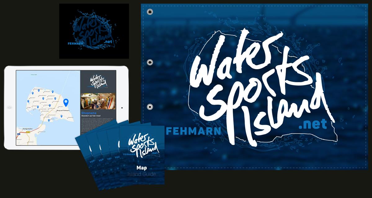 Mögliches Starterkit für Partner und Unterstützer der Initiative WaterSportsIsland Fehmarn - Zeigen, was man hat!
